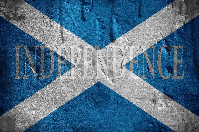 Bandiera di indipendenza della Scozia. fotografia stock libera da diritti