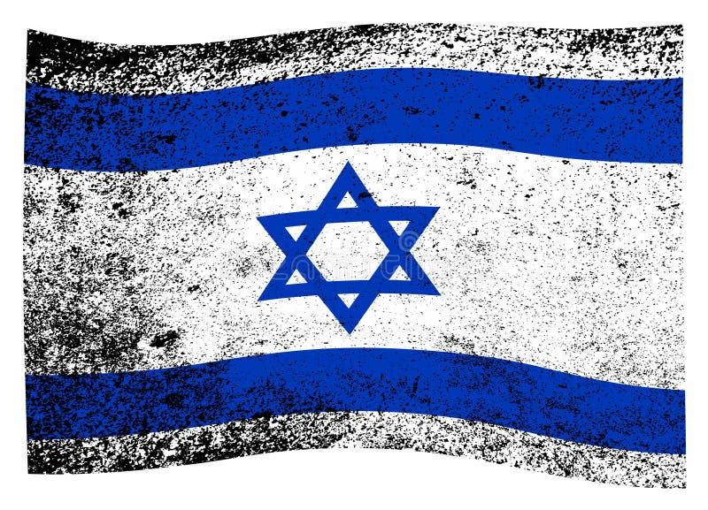 Bandiera di Israel Wave illustrazione di stock