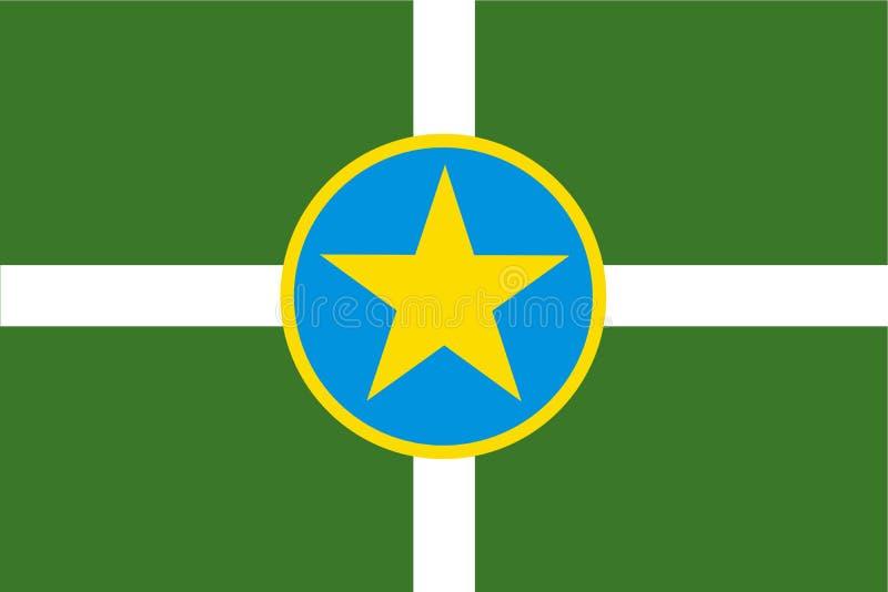 Bandiera di Jackson, Mississippi, Stati Uniti d'America Illustrazione di vettore royalty illustrazione gratis
