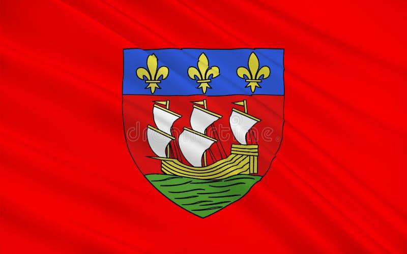 Bandiera di La Rochelle, Francia fotografia stock