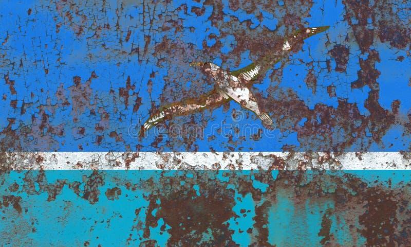 Bandiera di lerciume di Midway Islands, Florida dipendente del territorio degli Stati Uniti immagine stock libera da diritti