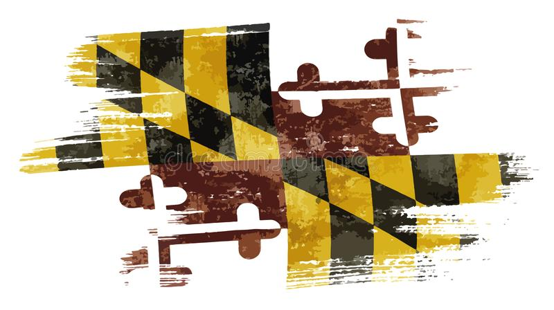 Bandiera di Maryland royalty illustrazione gratis