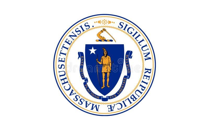 Bandiera di Massachusetts, U.S.A. fotografia stock