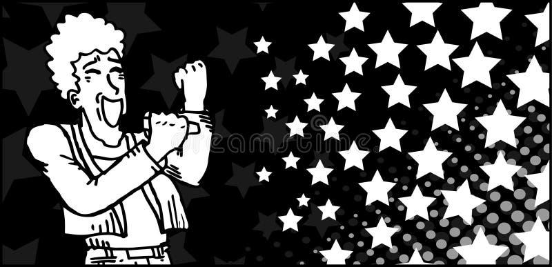 Bandiera di musica illustrazione vettoriale