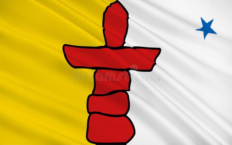 Bandiera di Nunavut, Canada royalty illustrazione gratis