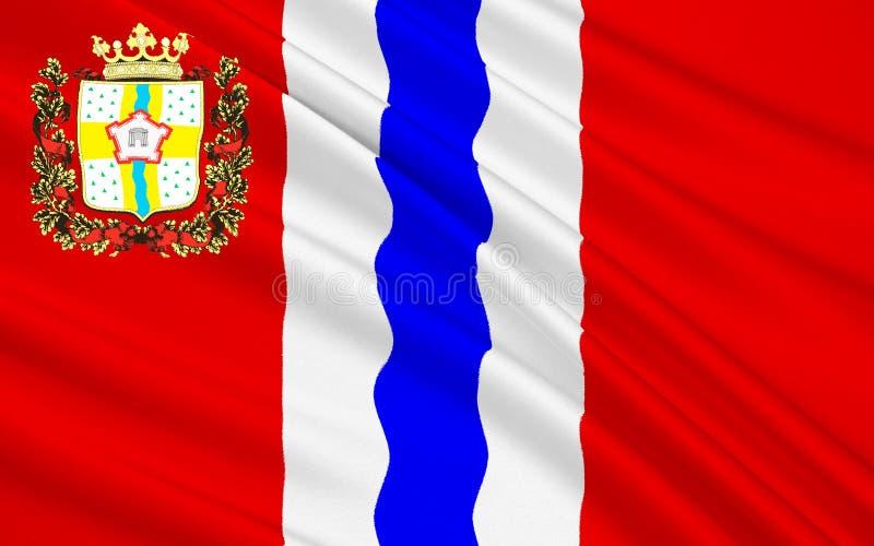 Bandiera di Omsk Oblast, Federazione Russa fotografie stock