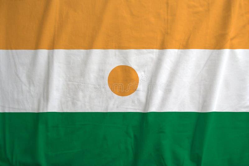 Bandiera di ondeggiamento del Niger fotografia stock libera da diritti
