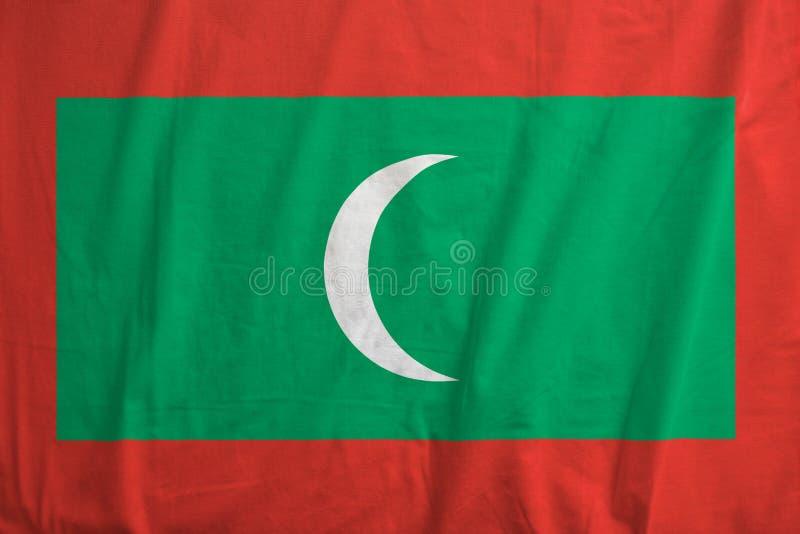 Bandiera di ondeggiamento delle Maldive immagini stock