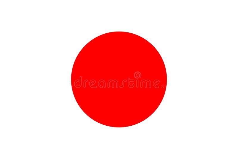 Bandiera di paese di riserva del Giappone di vettore 2 royalty illustrazione gratis