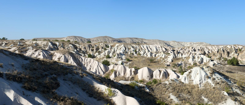 Bandiera di panorama di Cappadocia, corsa Turchia fotografie stock libere da diritti
