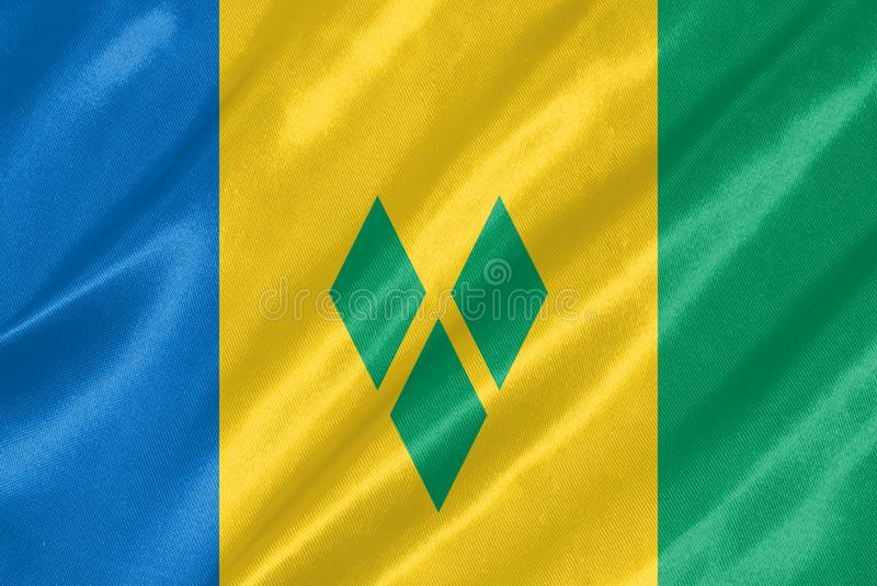 Bandiera di Saint Vincent e Grenadine illustrazione vettoriale