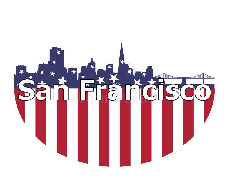 Bandiera di San Francisco City And U.S.A. illustrazione vettoriale