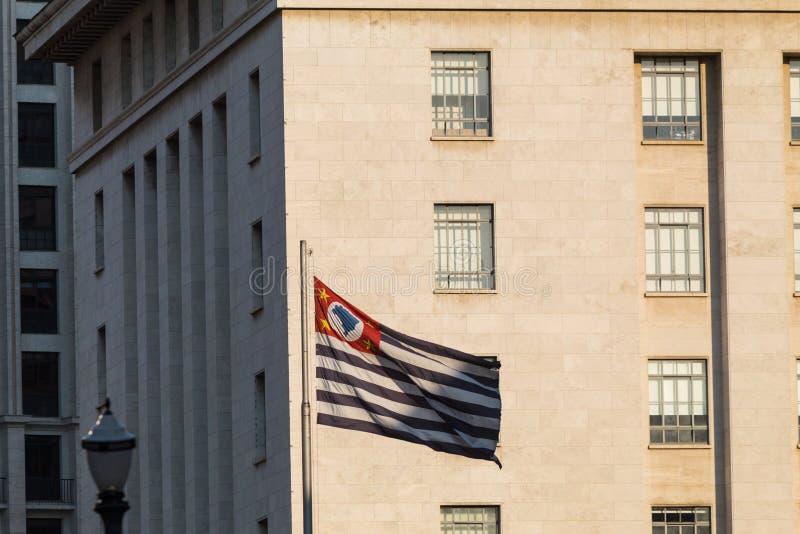 Bandiera di sao Paulo State fotografia stock libera da diritti