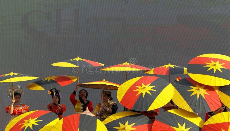 Bandiera di Sarawak immagine stock