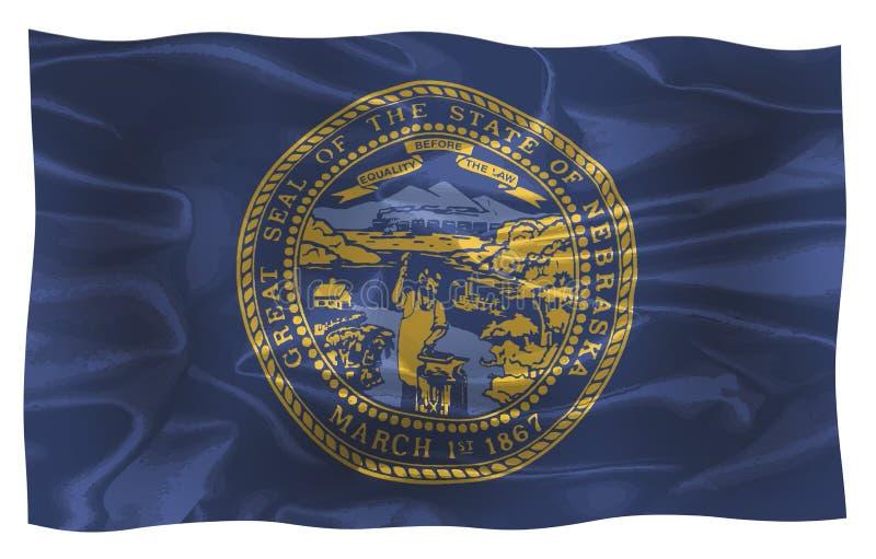 Bandiera di seta dello stato del Nebraska royalty illustrazione gratis