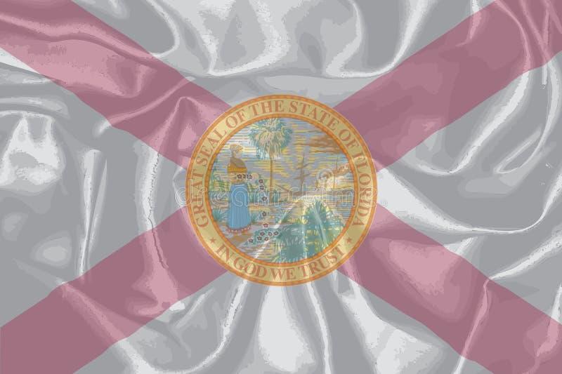 Bandiera di seta dello stato di Florida royalty illustrazione gratis