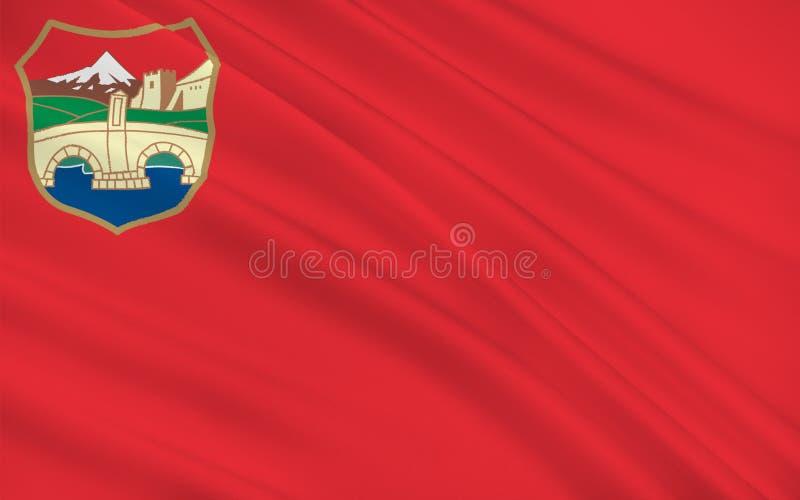 Bandiera di Skopje della Repubblica Macedone fotografia stock libera da diritti