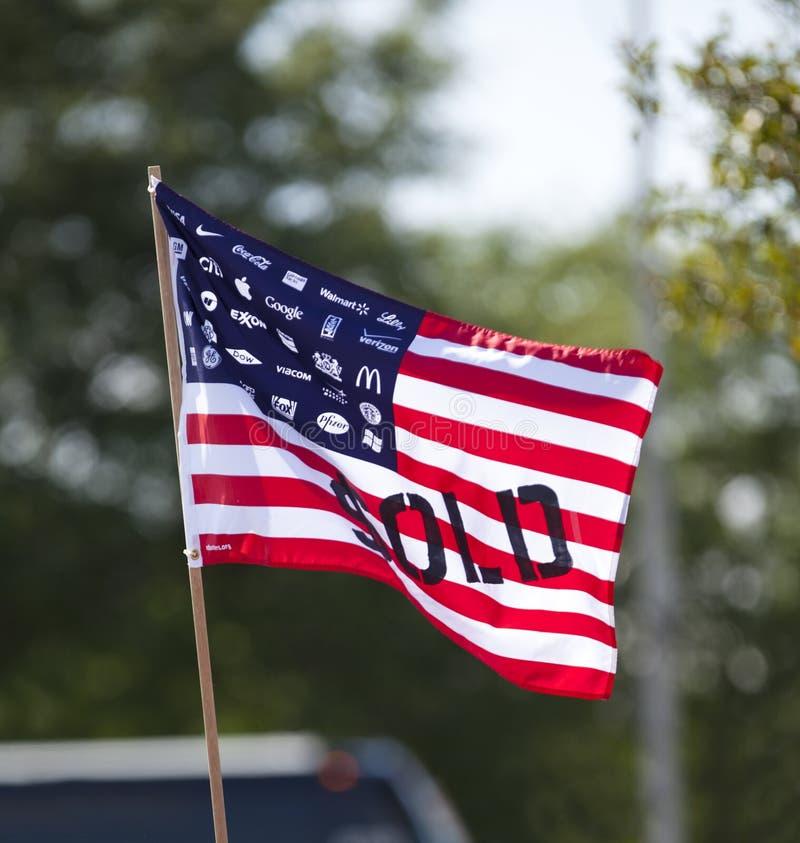 Bandiera di società degli Stati Uniti fotografia stock libera da diritti