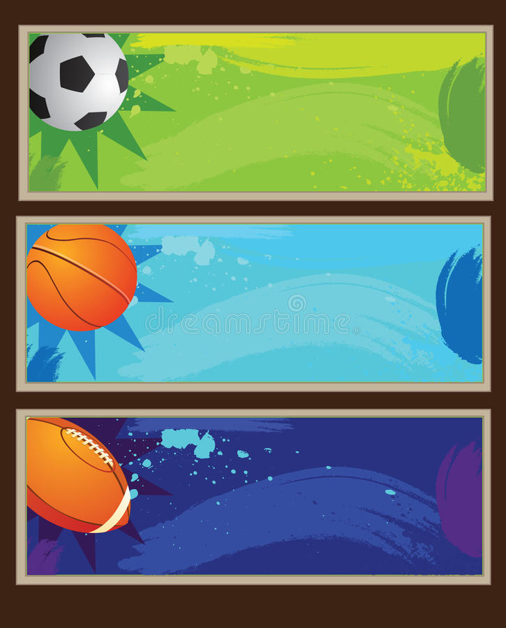 Bandiera di sport royalty illustrazione gratis