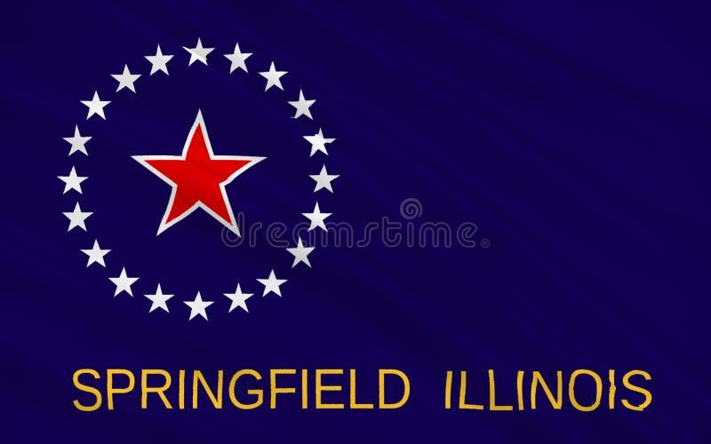 Bandiera di Springfield in Illinois, U.S.A. illustrazione vettoriale