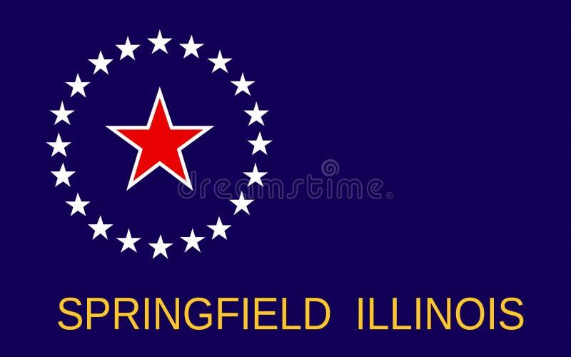 Bandiera di Springfield in Illinois, U.S.A. fotografia stock libera da diritti