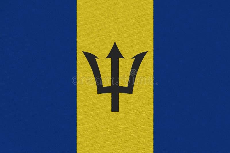Bandiera di stoffa delle Barbados immagini stock
