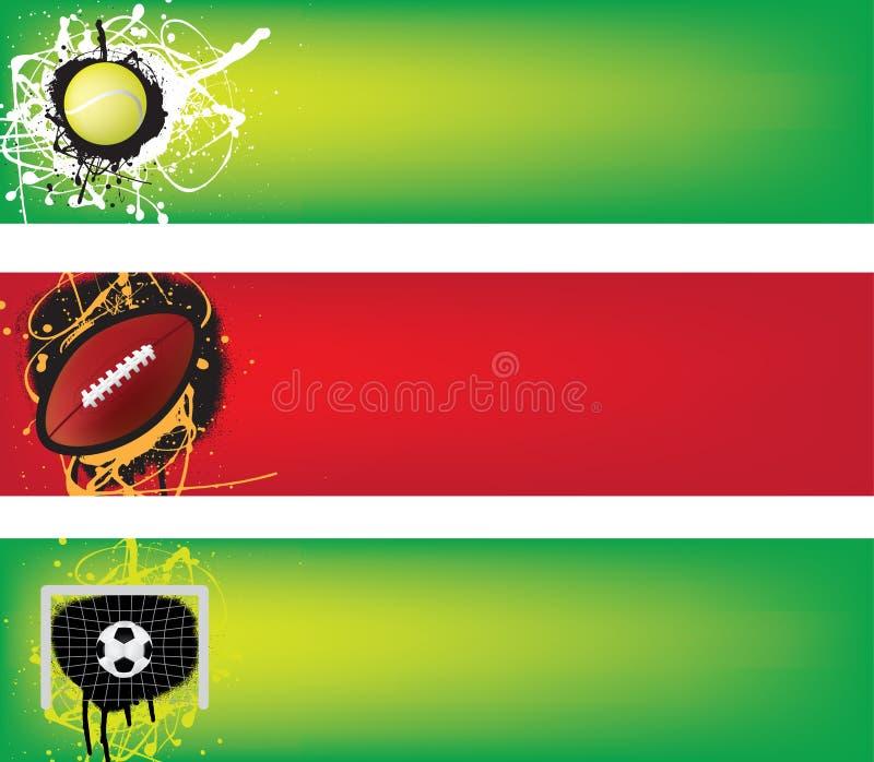 Bandiera di tennis, di football americano e di calcio illustrazione vettoriale