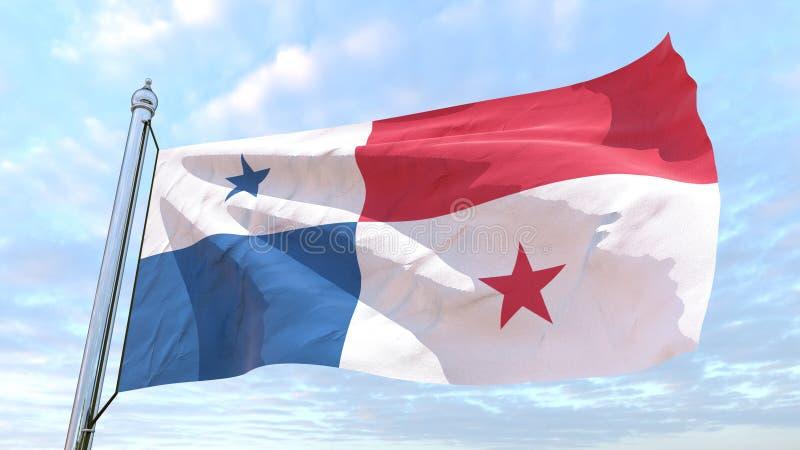 Bandiera di tessitura del paese Panama illustrazione vettoriale