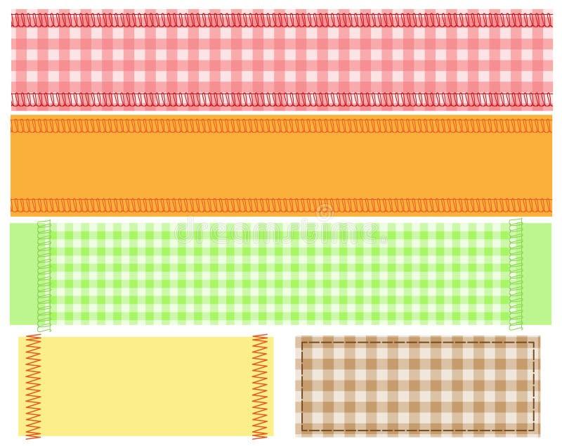 Bandiera di tessuto illustrazione vettoriale