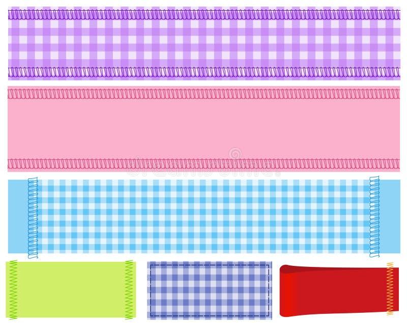 Bandiera di tessuto illustrazione di stock