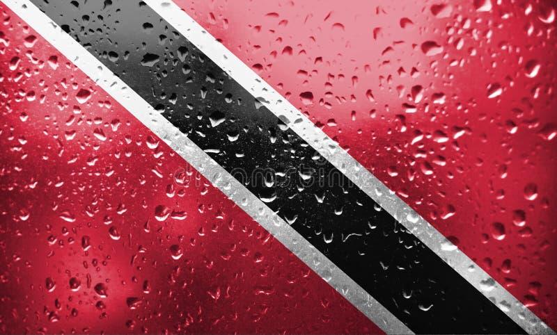 Bandiera di Trinidad e Tobago di struttura fotografia stock libera da diritti