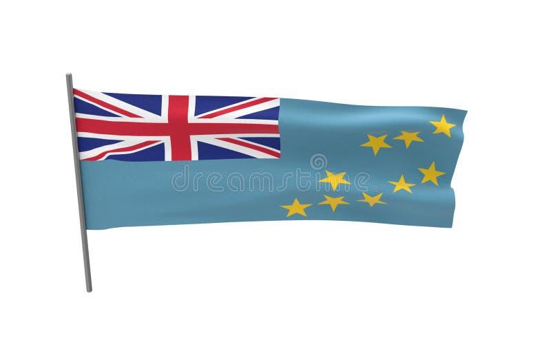 Bandiera di Tuvalu fotografia stock libera da diritti