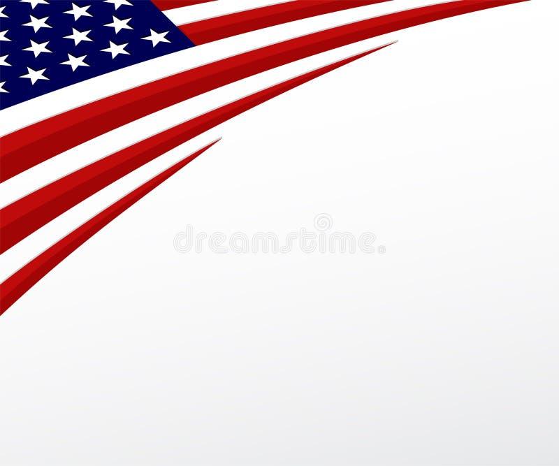 Bandiera di U.S.A. Gli Stati Uniti inbandierano il fondo. Vettore illustrazione di stock