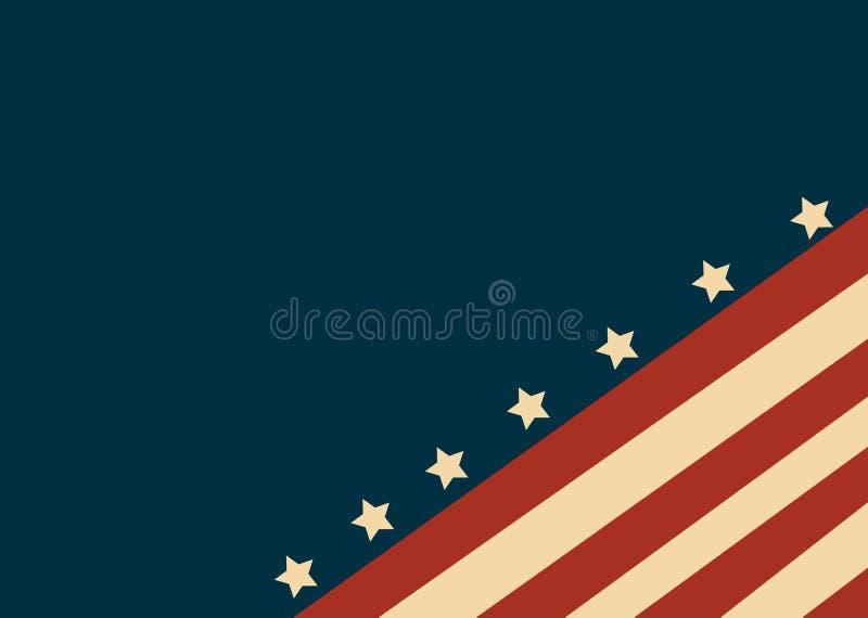 Bandiera di U.S.A. nel vettore di stile royalty illustrazione gratis