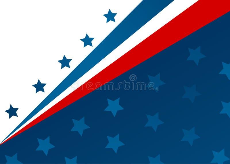 Bandiera di U.S.A. nel vettore di stile illustrazione vettoriale