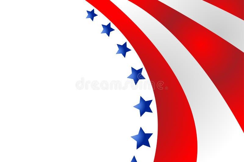 Bandiera di U.S.A. nel vettore di stile illustrazione di stock
