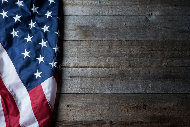 Bandiera Di U.S.A. su fondo pulito fotografia stock