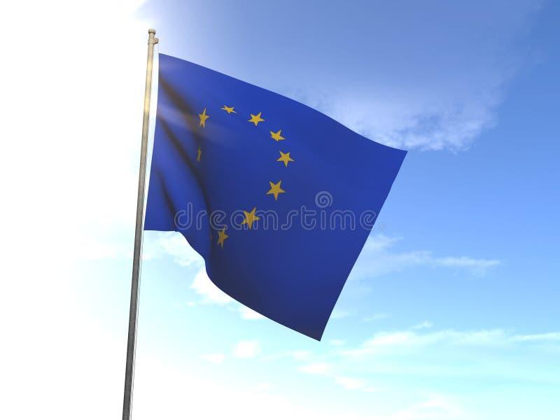 Bandiera di Unione Europea, UE fotografia stock libera da diritti