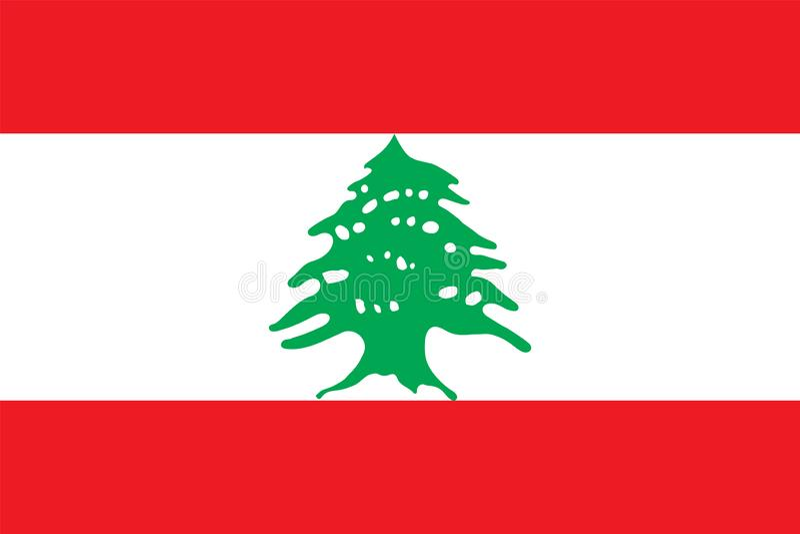 Bandiera di vettore del Libano Simbolo nazionale del Libano illustrazione vettoriale