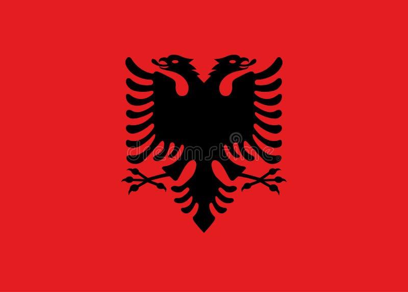 Bandiera di vettore dell'Albania illustrazione vettoriale