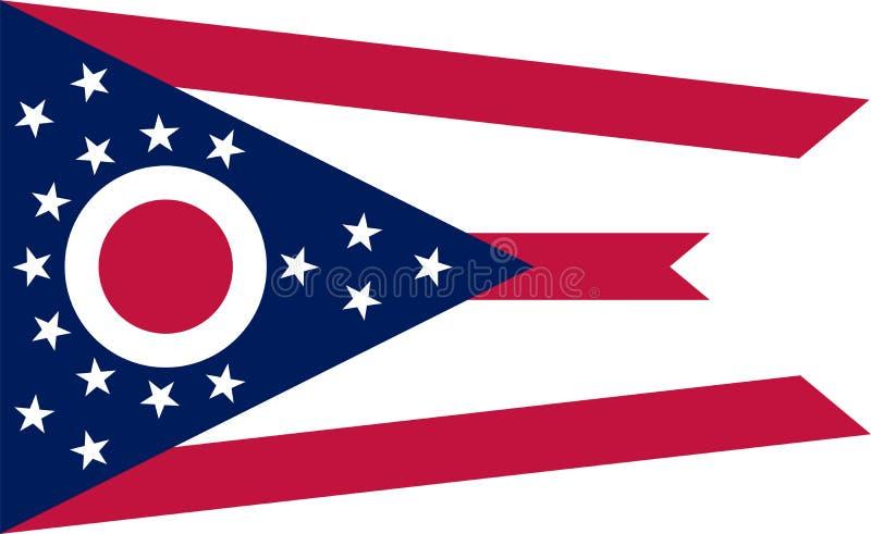 Bandiera di vettore dell'Ohio Illustrazione Gli Stati Uniti d'America royalty illustrazione gratis