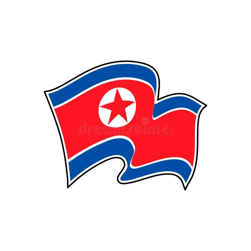 Bandiera di vettore della Corea del Nord pyongyang illustrazione di stock