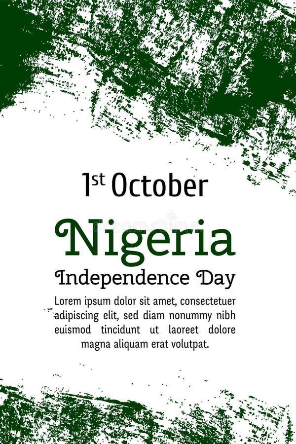 Bandiera di vettore della Nigeria Illustrazione di vettore per la festa nazionale nigeriana royalty illustrazione gratis