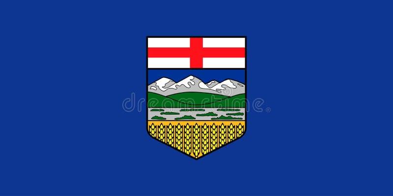 Bandiera di vettore della provincia Canada di Alberta Calgary, Edmonton royalty illustrazione gratis