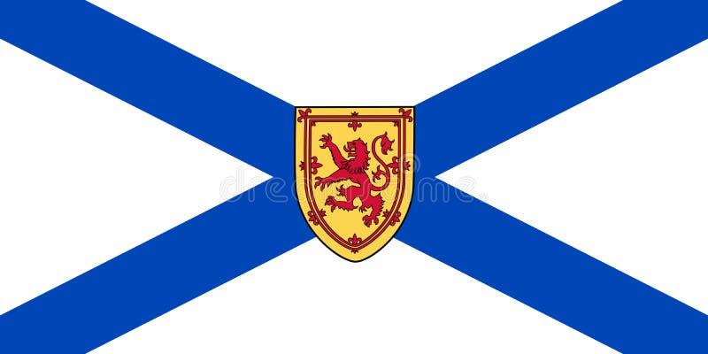 Bandiera di vettore della provincia Canada di Nova Scotia Halifax, bretone del capo illustrazione di stock