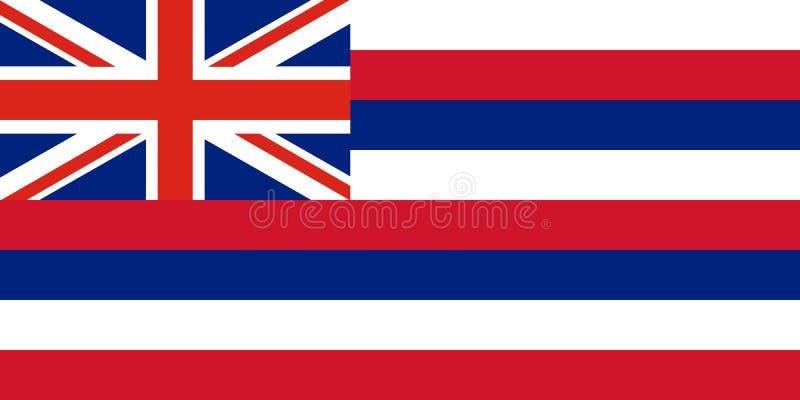 Bandiera di vettore dello stato delle Hawai Gli Stati Uniti d'America illustrazione di stock
