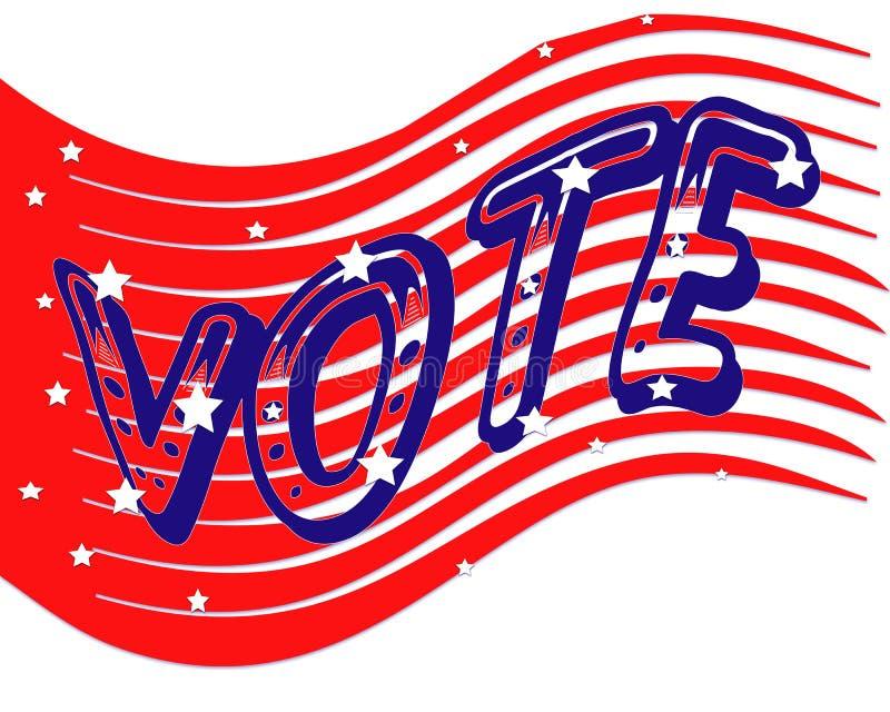 Bandiera di voto illustrazione vettoriale