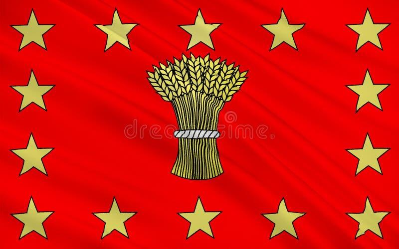 Bandiera di Vouziers, Francia illustrazione vettoriale
