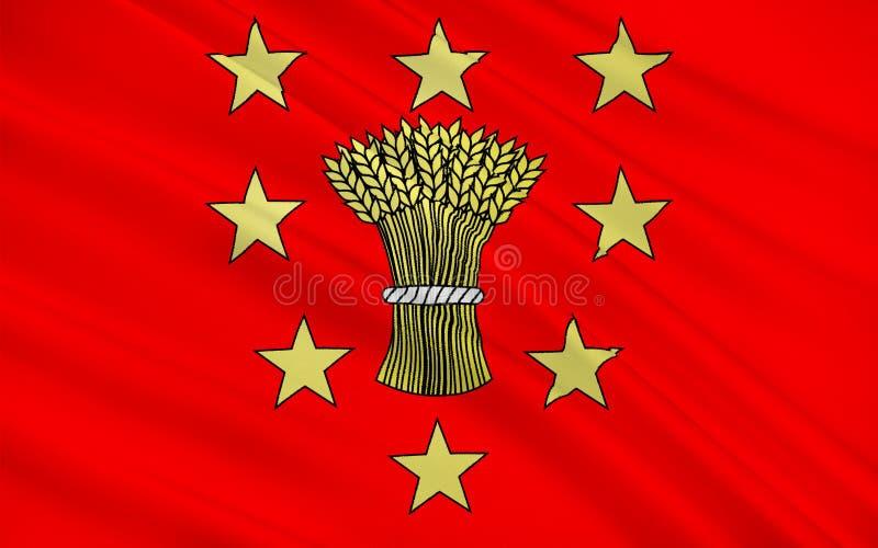 Bandiera di Vouziers, Francia royalty illustrazione gratis