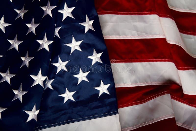 Bandiera di Wawing Stati Uniti fotografia stock